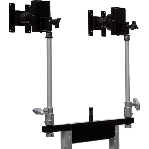 "Backstage Equipment Vertical Monitor Riser with Dual 5/8"" Baby Pins for Mag Carts"