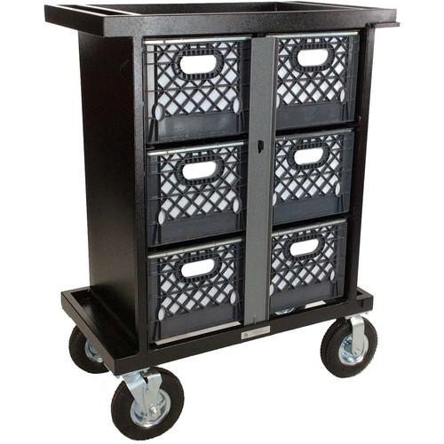 Backstage Equipment 6-Crate Vertical Set Box Cart