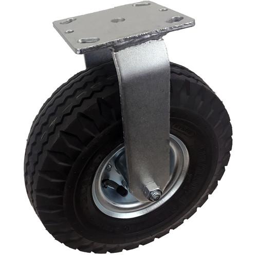 "Backstage Equipment 10"" Rigid Caster Pneumatic Wheel (4.10 / 3.50-4)"