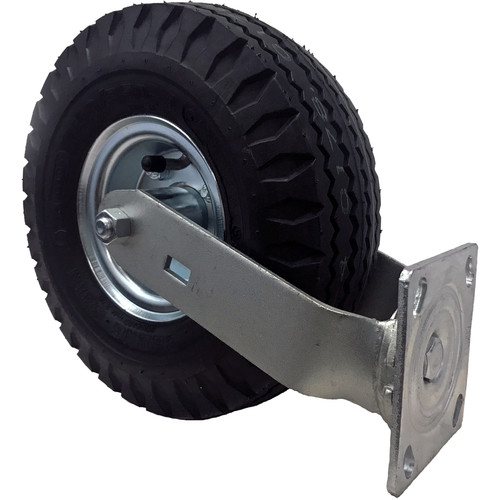 "Backstage Equipment 10"" Swivel Caster Pneumatic Wheel (4.10 / 3.50-4)"
