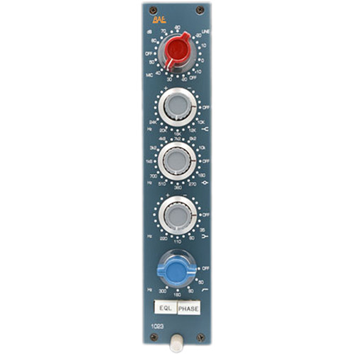 BAE 1023L Mic Preamp and 3-Band EQ (500-Series Module)
