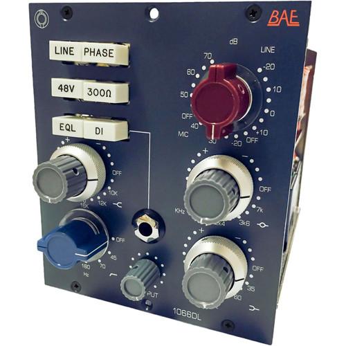 BAE 1066DL Mic/Line Preamp and EQ (500-Series Module)