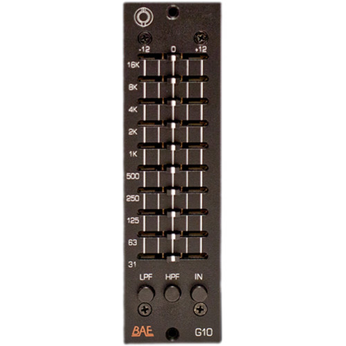 BAE G10 Transformer-Balanced Graphic Equalizer (500-Series Module)