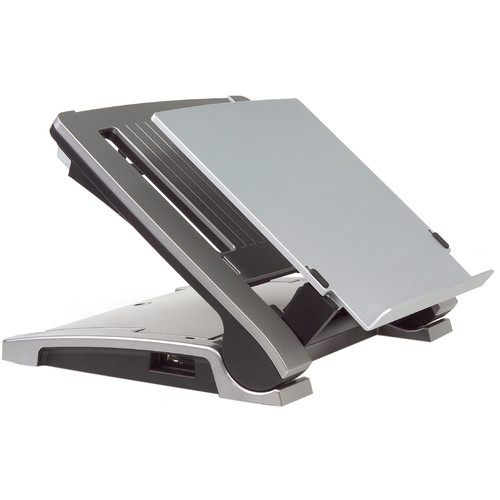BakkerElkhuizen Ergo-T 340 Height-Adjustable Notebook Stand with Document Holder & Swivel Base