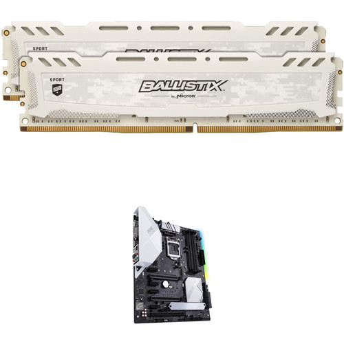 Ballistix 16GB Sport LT DDR4 Memory & ASUS Prime Z370-A II LGA 1151 ATX Motherboard Kit