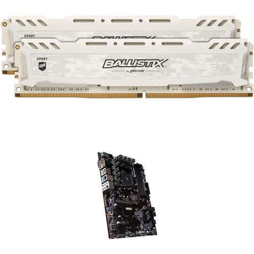Ballistix 16GB Sport LT Series DDR4 & MSI B450-A PRO AM4 ATX Motherboard Kit