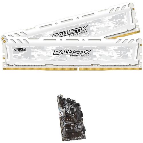 Ballistix 32GB Sport LT DDR4 Memory & MSI B360-A Pro LGA 1151 ATX Motherboard Kit