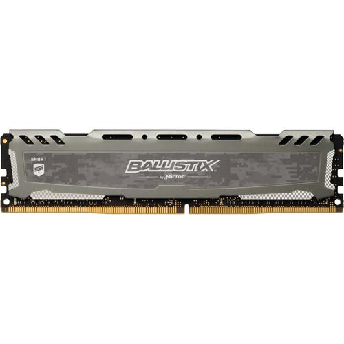 Ballistix 16GB Sport LT Series DDR4 3000 MHz DR UDIMM Memory Module (Gray)