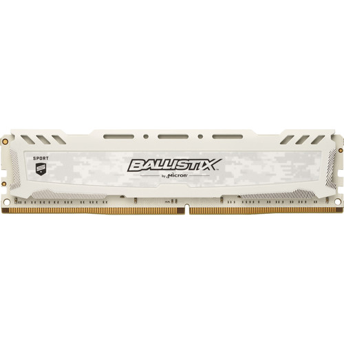 Ballistix 16GB Sport LT Series DDR4 3000 MHz DR UDIMM Memory Module (White)