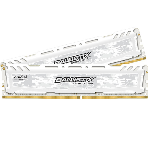 Ballistix Ballistix 16GB Sport LT Series DDR4 2666 MHz UDIMM Memory Kit (2 x 8GB, White)