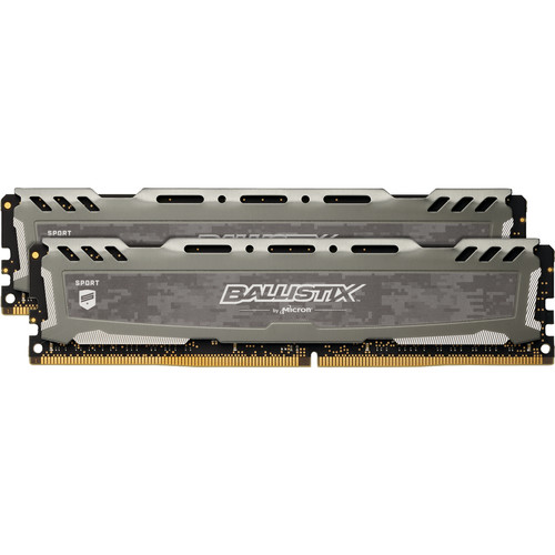 Ballistix 16GB Sport LT Series DDR4 3200 MHz SR UDIMM Memory Kit (2 x 8GB, 16-18-18, Gray)
