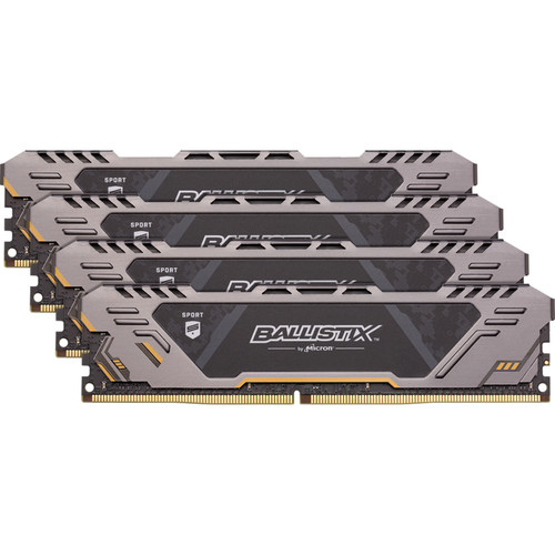 Ballistix 64GB Sport AT Series DDR4 3200 MHz DR UDIMM Memory Kit (4 x 16GB)