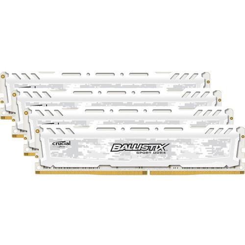 Ballistix Ballistix 32GB Sport LT Series DDR4 2666 MHz UDIMM Memory Kit (4 x 8GB, White)