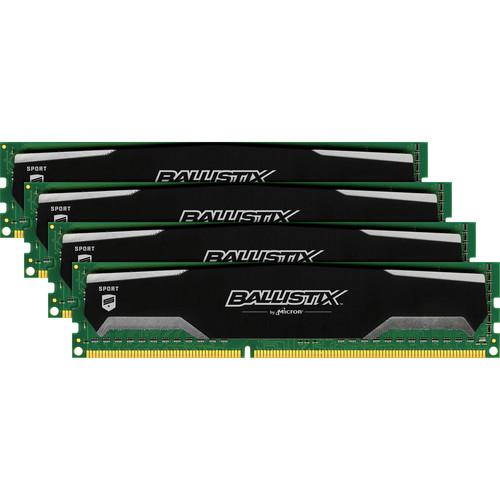 Ballistix 16GB Ballistix Sport DDR3 1600 MHz UDIMM Memory Module Kit (4 x 4GB)