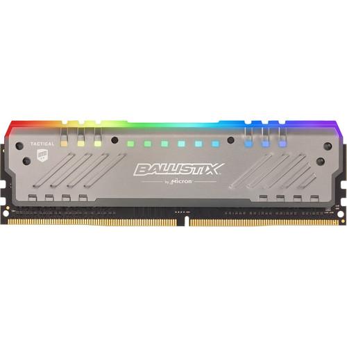 Ballistix 16GB Ballistix Tactical Tracer RGB DDR4 2666 MHz DR UDIMM Memory Module