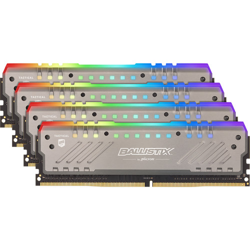 Ballistix 32GB Tactical Tracer RGB DDR4 3000 MHz MHz Quad-Channel Memory Kit (4 x 8GB)