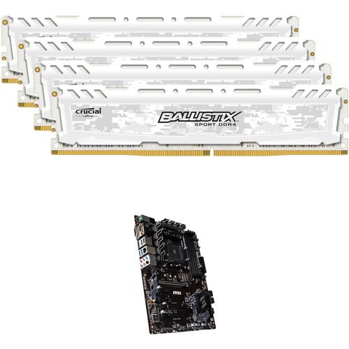 Ballistix 64GB Sport LT DDR4 Memory & MSI B450-A PRO AM4 ATX Motherboard Kit