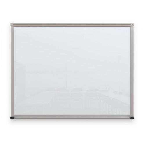 Balt Framed Magnetic Glass Dry Erase Whiteboard (Gloss White, 3 x 4')
