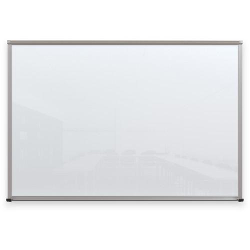 Balt Framed Magnetic Glass Dry Erase Whiteboard (Gloss White, 4 x 6')
