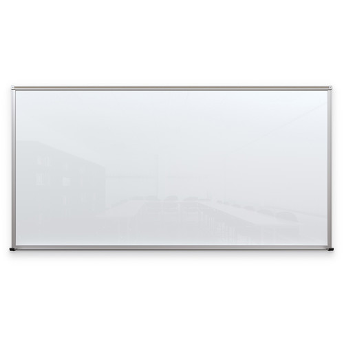 Balt Framed Magnetic Glass Dry Erase Whiteboard (Gloss White, 4 x 8')