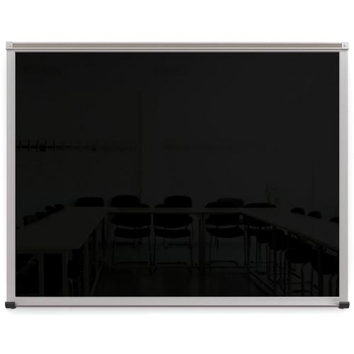 Balt Framed Magnetic Glass Dry Erase Whiteboard (Gloss Black, 3 x 4')