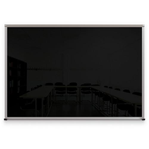 Balt Framed Magnetic Glass Dry Erase Whiteboard (Gloss Black, 4 x 6')