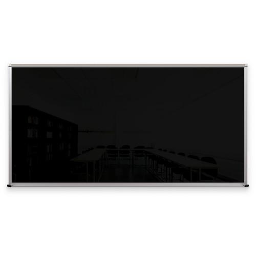 Balt Framed Magnetic Glass Dry Erase Whiteboard (Gloss Black, 4 x 8')