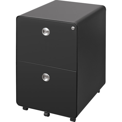 Balt 2-Drawer Mobile File Cabinet (Black)