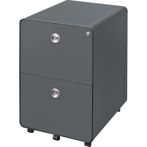 Balt 2-Drawer Mobile File Cabinet (Gray)