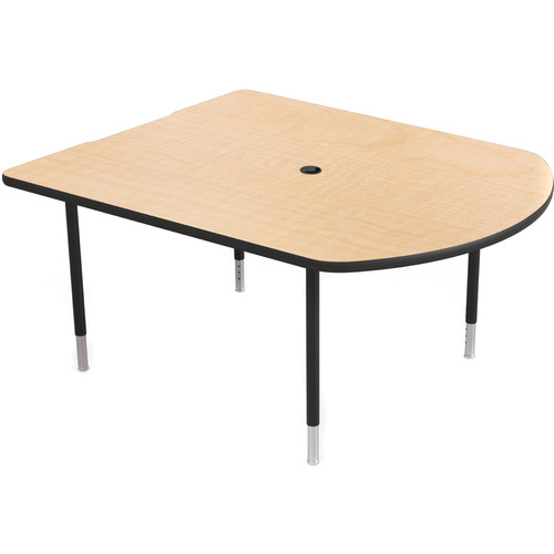 Balt MediaSpace Multimedia & Collaboration Small Table with Black Legs (Fusion Maple Laminate, Black Edge)