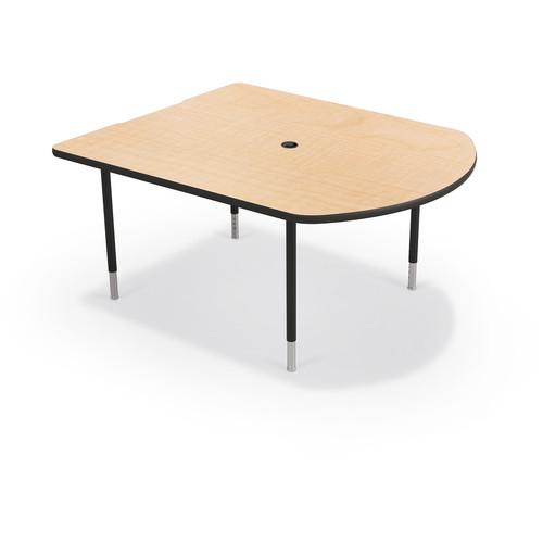 Balt MediaSpace Multimedia & Collaboration Table (Small, Fusion Maple Laminate, Platinum Edge, Black Legs)