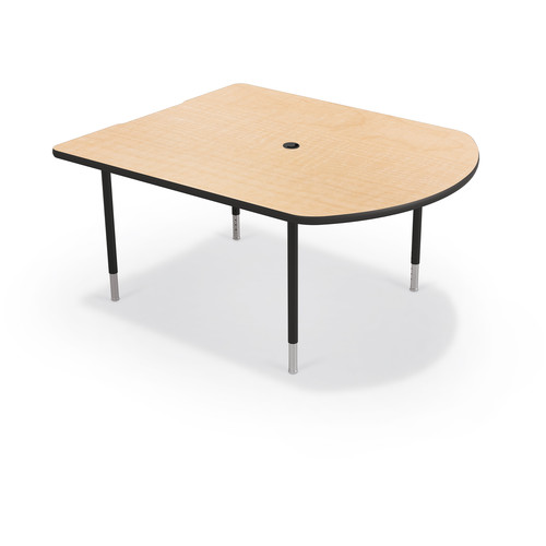 Balt MediaSpace Multimedia & Collaboration Small Table with Black Legs (Fusion Maple Laminate, Platinum Edge)