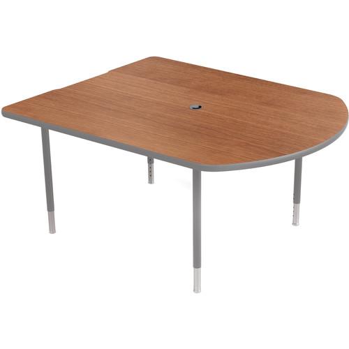 Balt MediaSpace Multimedia & Collaboration Table (Small, Amber Cherry Laminate, Platinum Edge, Platinum Legs)