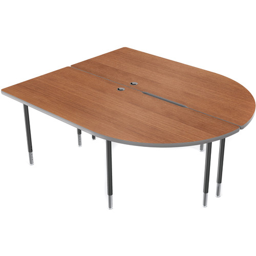 Balt MediaSpace Multimedia & Collaboration Table (Amber Cherry Laminate, Platinum Edge)