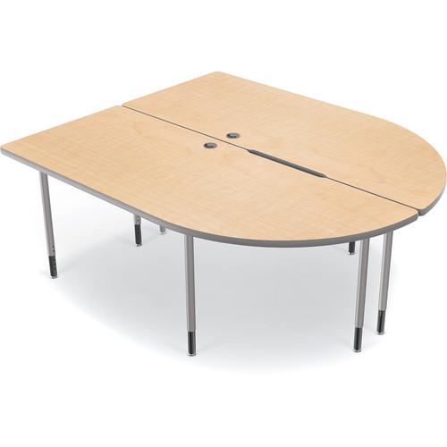 Balt MediaSpace Multimedia & Collaboration Table (Fusion Maple Laminate, Platinum Edge)