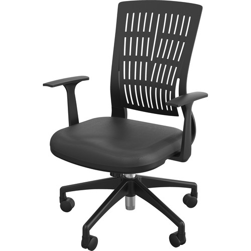 Balt Fly Mid Back Office Chair with Fixed Arms (Black)