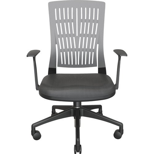 Balt Fly Mid Back Office Chair with Fixed Arms (Gray)