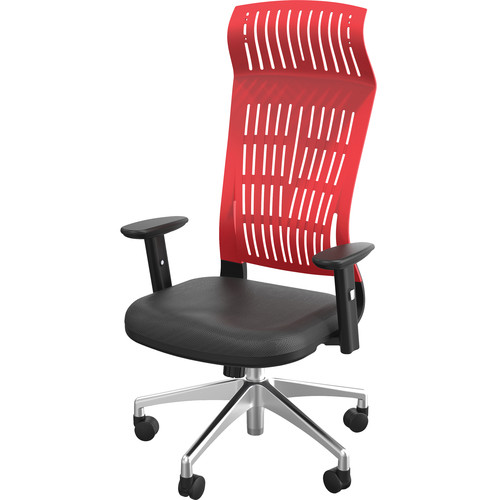 Balt Fly High Back Office Chair with Adjustable Arms (Red)