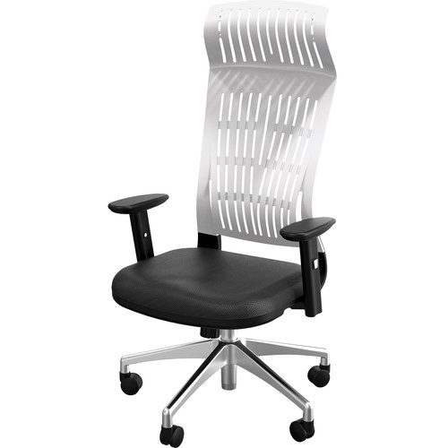 Balt Fly High Back Office Chair with Adjustable Arms (White)