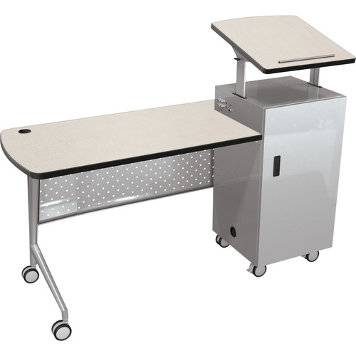 Balt Trend Podium Desk (Gray Mesh)