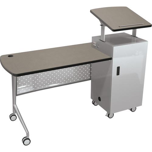 Balt Trend Podium Desk (Pewter Mesh)
