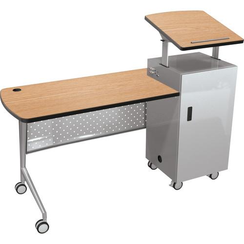 Balt Trend Podium Desk (Castle Oak)
