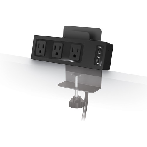 Balt Clamp Mount Outlet & USB Charger with 3 AC Outlets and 2 USB Ports