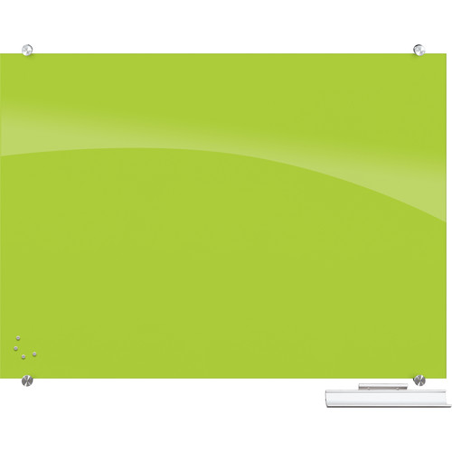 Balt 83844 Visionary Magnetic Glass Dry Erase Whiteboard (Green)