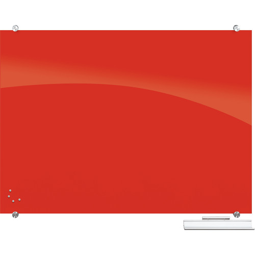 Balt 83844 Visionary Magnetic Glass Dry Erase Whiteboard (Red)