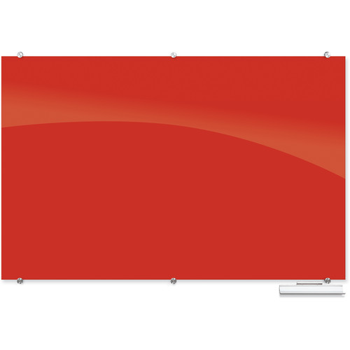 Balt 83845 Visionary Magnetic Glass Dry Erase Whiteboard (Red)