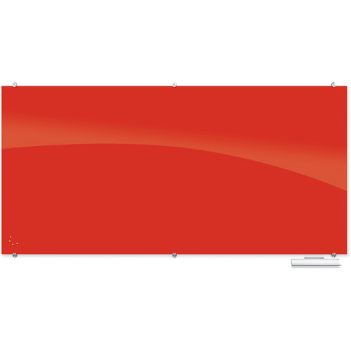 Balt 83846 Visionary Magnetic Glass Dry Erase Whiteboard (Red)