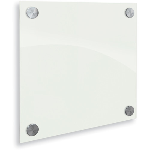Balt Enlighten Glass Dry Erase Markerboard (1 x 1', Gloss White)