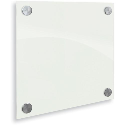 Balt Enlighten Glass Dry Erase Markerboard (1 x 1', Gloss White)