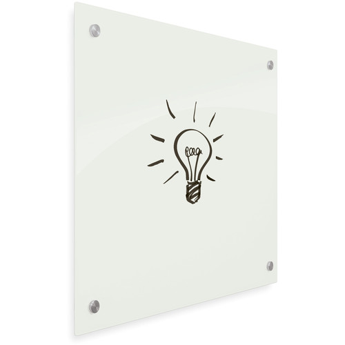 """Balt Enlighten Tempered Glass Dry-Erase Whiteboard (35.4 x 47.2"""", Gloss White)"""